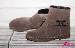 Натуральные ботинки - цвет кожи и замши на выбор