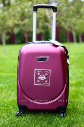 Качество Бордовый чемодан пластиковый марсала детский чемодан доставка Киев