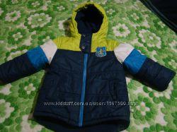 Демисезонная курточка на мальчика осень, теплая зима, весна