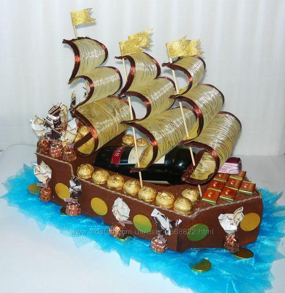 Корабль из конфет  Пираты Карибского моря