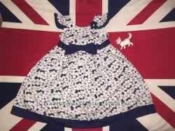 Нарядное летнее платье Laura Ashley на 7-8 лет, коттон