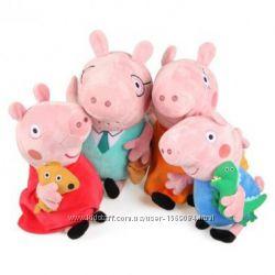 Семья Свинки Пеппы, папа Свин, мама Свинка , Джордж, Пеппа