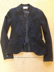 Черный школьный пиджак Bershka р. 152-164.