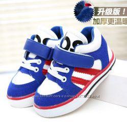 Кроссовки ботинки на коротком меху р. 21-13 см