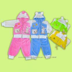 Прикольный костюм с ушками для малышей.