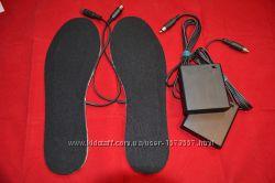 Стельки с подогревом тепло от USB, батареек, авто, сеть 220