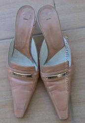 Босоножки cerruti италия розово-золотистые кожаные