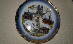 Тарілка керамічна із зображенням місць Брюсселя
