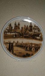 Тарілка керамічна із зображенням місць Праги