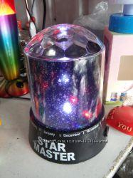 Ночник проектор Star Master купольный, светильник крислалл