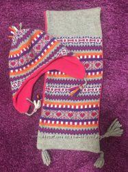 Зимняя шапка и шарф для девочки