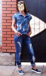 безрукавка жилетка жилет рваная джинсовая