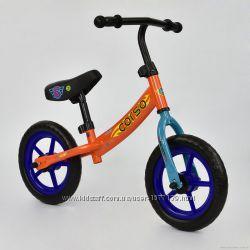 Велобег CORSO колеса пена, 12, разные цвета