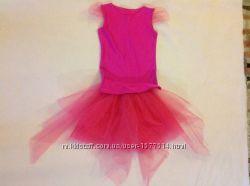 Карнавальный костюм для девочки 6-7 лет ярко розовый
