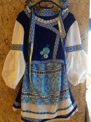 Костюм украинский синий для девочки 9-10 лет