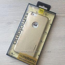Противоударный чехол для iphone 6 6S золотой Мотомо
