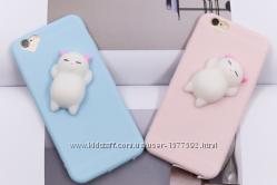 Мягкие силиконовые чехлы с мишками для iphone 5 5S 6 6S