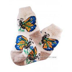 Шерстяные женские носки Бабочка
