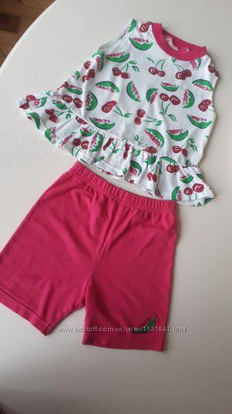 Пижама шорты и майка в арбуз Broght futures, 5 лет, 110 см