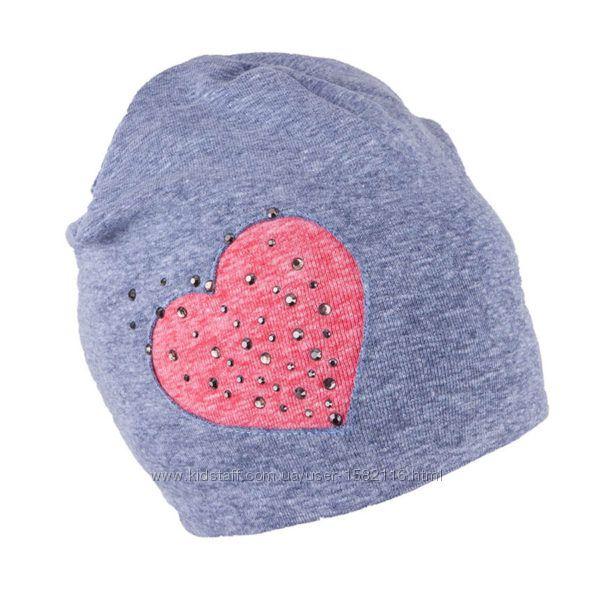 Двойные трикотажные шапки для девочек