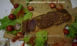 Свинина копченая филе, ребро, сало, рулет, бастурма, вырезка