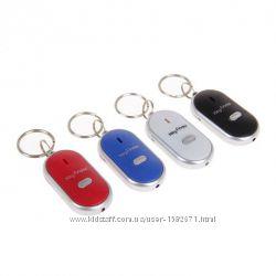 Брелок для поиска ключей, отзывается на свист, с подсветкой