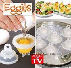 Набор контейнеров Eggies для варки яиц пашот без скорлупы 6шт с сепаратором