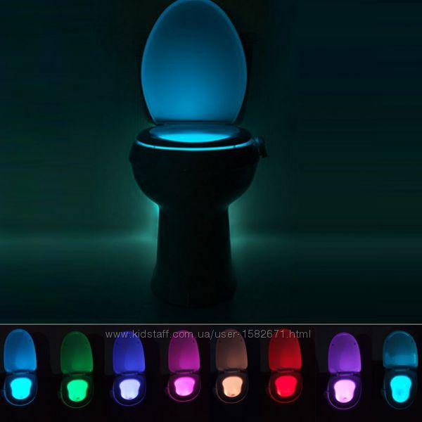 Подсветка для унитаза лед светильник с датчиком Движения
