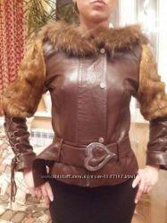 Кожаная курточка с мехом