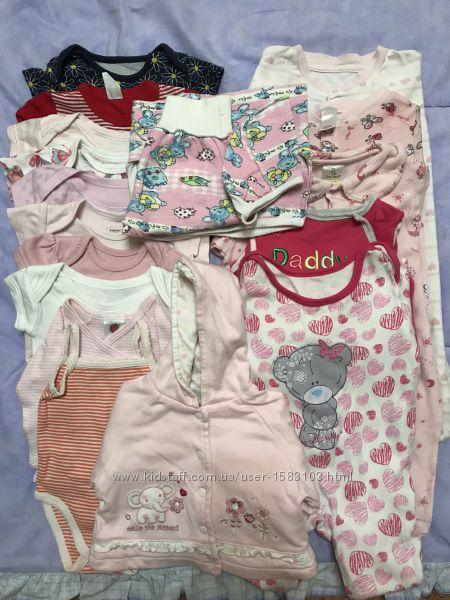 Продам комплект детской одежды от 0-3 месяцев бу