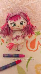 Маленькие текстильные куклы. Брелок. Подвеска.