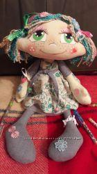Текстильная кукла. Ручная работа. Подарок для интерьера