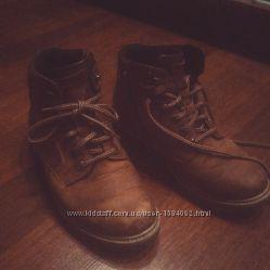 Кожаные ботинки коричневые