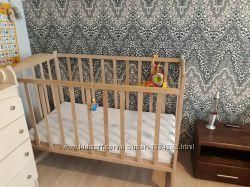 Кроватка детская с двухсторонним ортопедическим матрасом