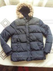 Зимняя темно синяя куртка для мальчика 12-13 лет rebel primark