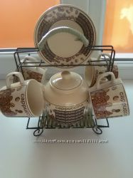 Сервиз на 4 персоны для кофе, чая, капучино