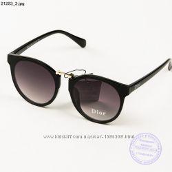 Женские модные солнцезащитные очки Dior - Черные - 21253
