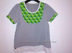 Яркая хлопковая футболочка кофточка в стиле casual Von Svenja Германия, l-х