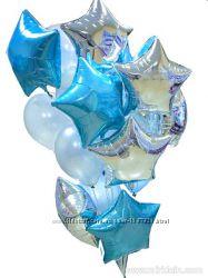 Фольгированные шарики на праздник звездочки из фольги шары звезды