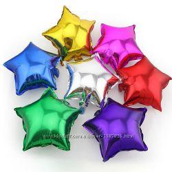 Звездочки фольгированные шары для праздника звезды из фольги шарики