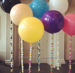 Шары латексные надувные большие шарики гиганты воздушные гелиевые