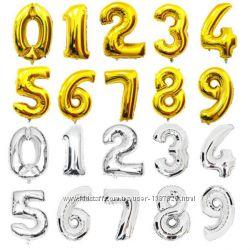 Шары цифры фольгированные на праздник шарики из фольги День Рождения