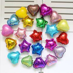 Шары звезды фольгированные на праздник шарики из фольги звездочки