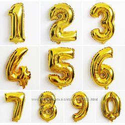 Шарики цифры из фольги шары фольгированные надувные воздушные на праздник