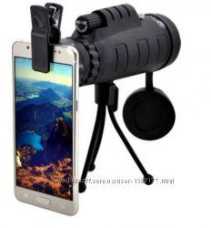 Монокуляр Panda 40x60 с треногой и клипсой для смартфона  чехол