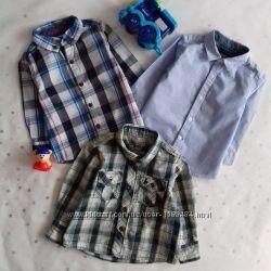 Рубашки для малыша 9-12 мес