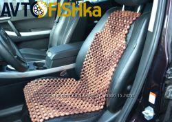Накидка-масажер  Деревянная накидка-массажер на сиденье авто