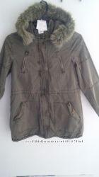 Куртка парка для девочки с капюшеном деми