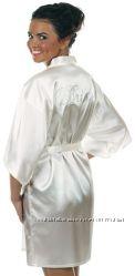Продам свадебный атласный халат невесты
