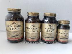 Солгар, Solgar Кожа, Ногти и Волосы, магний, витамин B6, глицин